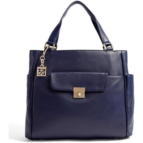 DKNY Navy Large Work Tote