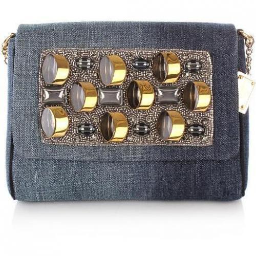 Dolce&Gabbana Borsa A Tracolla Denim Ricamo