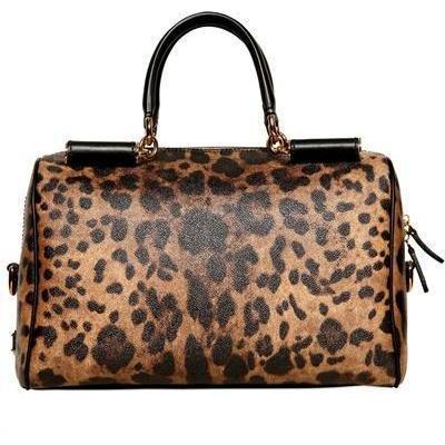 Dolce & Gabbana - Boston Leo Printed Pvc Handtasche