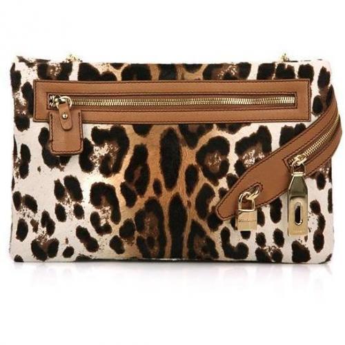 Dolce&Gabbana Leo Fur Shoulder Bag