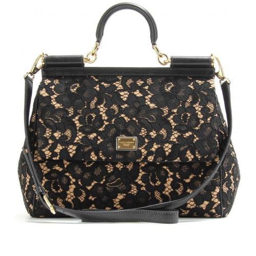 b8c173fa3a2f Dolce   Gabbana Sicily Spitzenbezogene Handtasche