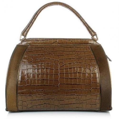 Donna Karan Hydroform Handbag Croco Bergamot