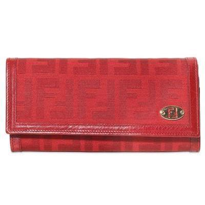 Fendi - Brieftasche Im Zucca Jacquard Rot