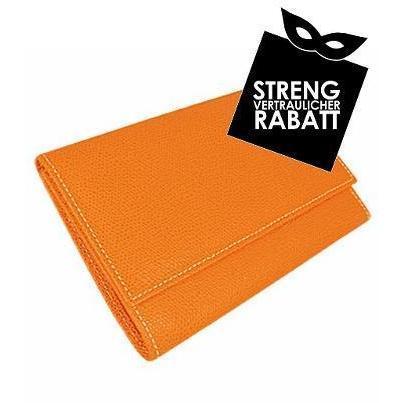 Forzieri Überschlagbörse aus Leder mit Echsendruck Orange