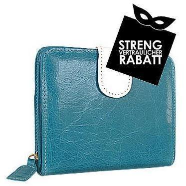 Forzieri Zweifarbige Lederbrieftasche im Vintagestil mit ID-Fenster und Verschlusslasche
