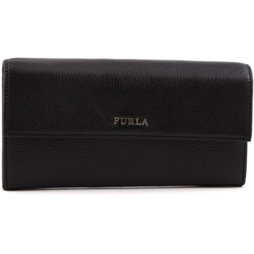 Furla Classic Geldbörse Damen Leder schwarz
