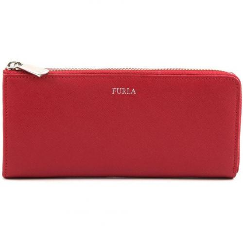Furla Zip Around Geldbörse Damen Leder rot