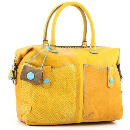 gabs g pokes l henkeltasche leder gelb designer handtaschen paradies it bags burberry gucci. Black Bedroom Furniture Sets. Home Design Ideas