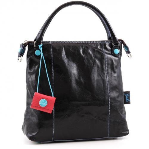 gabs gsac m henkeltasche leder schwarz designer handtaschen paradies it bags burberry gucci. Black Bedroom Furniture Sets. Home Design Ideas