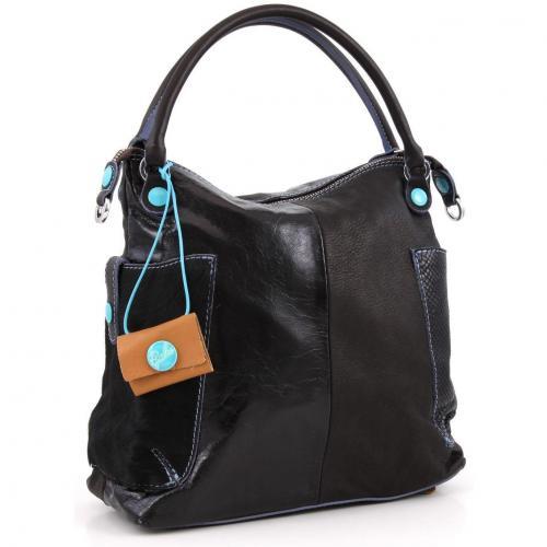 gabs gsac pokes m henkeltasche leder schwarz designer handtaschen paradies it bags burberry. Black Bedroom Furniture Sets. Home Design Ideas