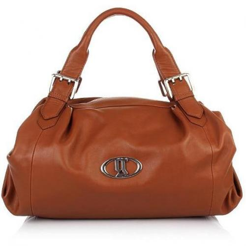 Galliano Big Leather Satchel brown