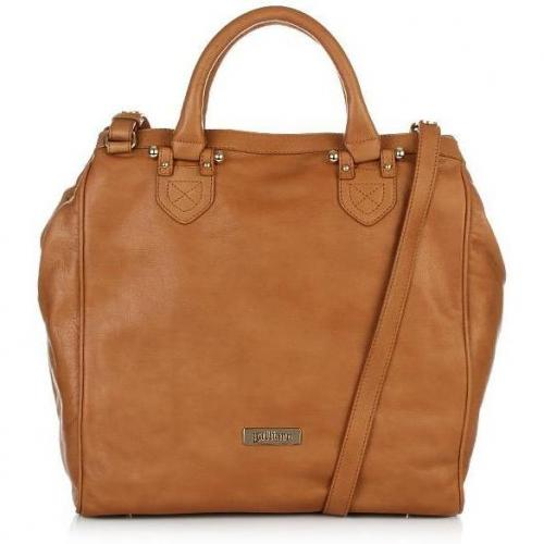 Galliano Leather Shopper N-S brown