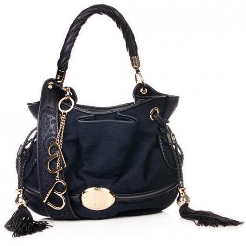Lancel Brigitte Bargot Bucket Bag Night Blue