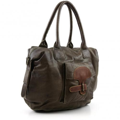 Liebeskind D Leather Alice Shopper Leder moss