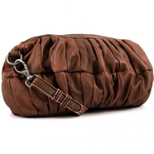 Liebeskind D Leather Bessy Schultertasche Leder beige