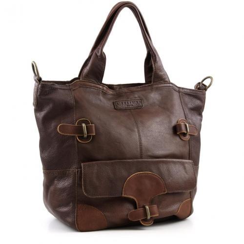 liebeskind 2d leather dori shopper 2d dori brown. Black Bedroom Furniture Sets. Home Design Ideas