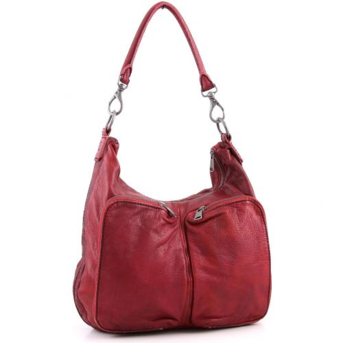 Liebeskind D Leather Ilka Beuteltasche Leder pink