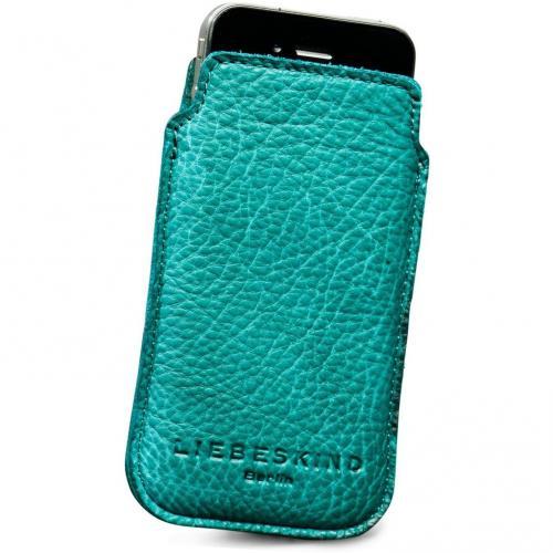 Liebeskind D Leather Mobile Handytasche Leder aqua