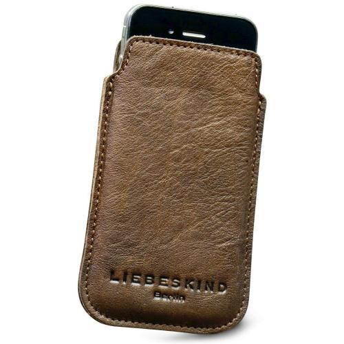 Liebeskind D Leather Mobile Handytasche Leder beige