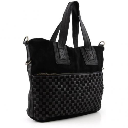 liebeskind braided strap april shopper bs april black designer handtaschen paradies it bags. Black Bedroom Furniture Sets. Home Design Ideas