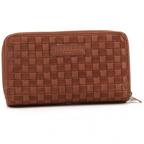 Liebeskind Braided Strap Marion Clutch Leder saddle brown