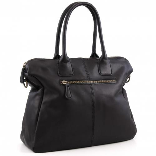 Liebeskind Limited Pull Up Leather Biarritz Shopper Leder schwarz