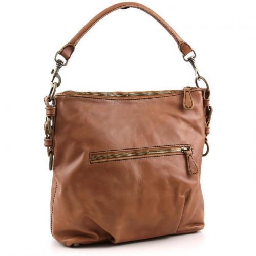 Liebeskind limited Pull Up Leather Kapstadt Beuteltasche Leder saddle brown