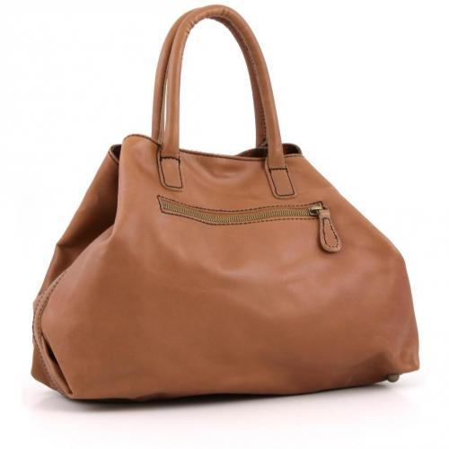 Liebeskind Limited Pull Up Leather L.A. Shopper Leder saddle brown