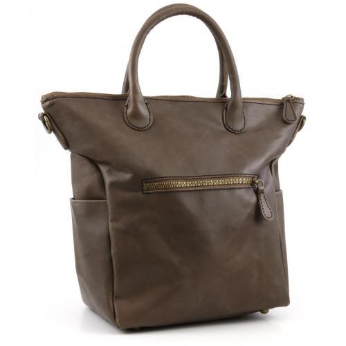 Liebeskind Limited Pull Up Leather Madrid Shopper Leder braun