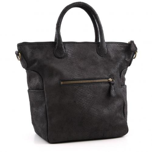 Liebeskind Limited Snake Madrid Shopper Leder anthrazit
