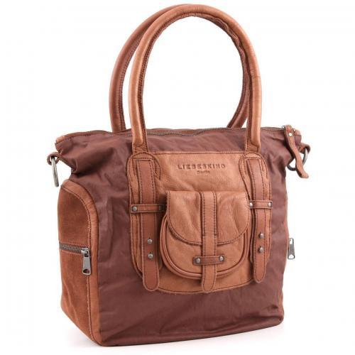 Liebeskind Washed Suede Sharmila Shopper Leder saddle brown