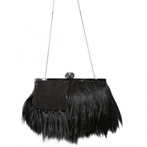 maison du posh totenkopf leder schaffell umh ngetasche designer handtaschen paradies it. Black Bedroom Furniture Sets. Home Design Ideas