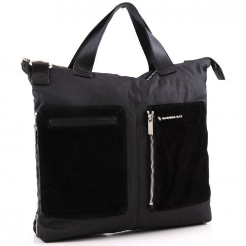 Mandarina Duck Zip Up Shopper schwarz
