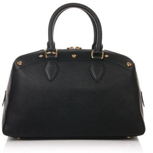 MCM First Lady Boston Small Black