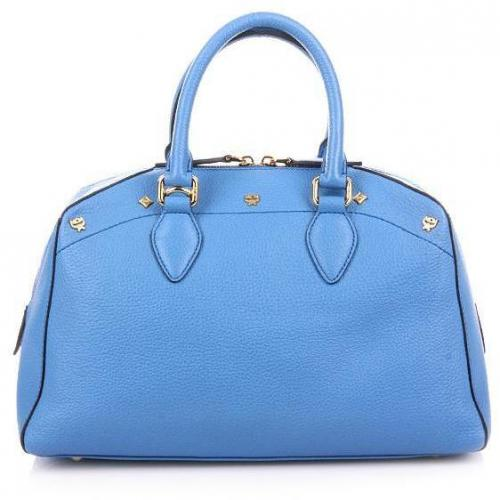 MCM First Lady Boston Small Blue
