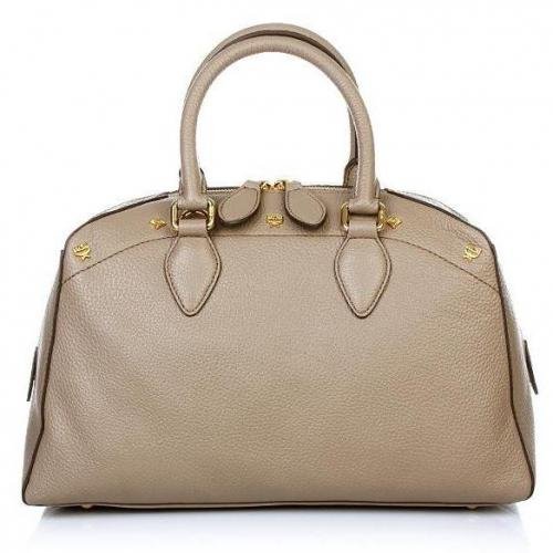 MCM First Lady Boston Small Taupe