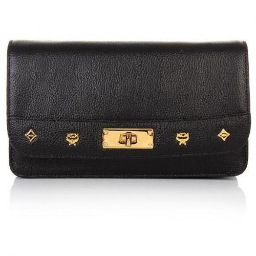 MCM First Lady Crossbody Wallet Large Black