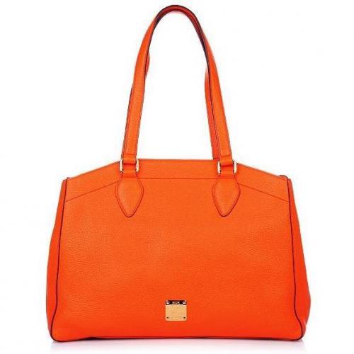 MCM First Lady Shopper Medium Orange