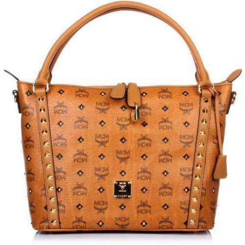 mcm funk rock luxury shopper medium cognac designer handtaschen paradies it bags burberry. Black Bedroom Furniture Sets. Home Design Ideas