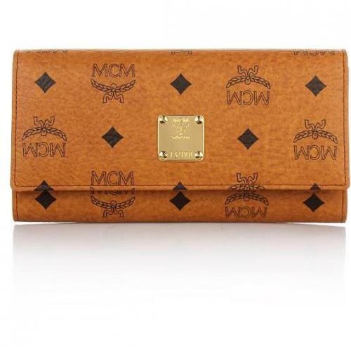 MCM Heritage Orginal Flap Wallet Cognac