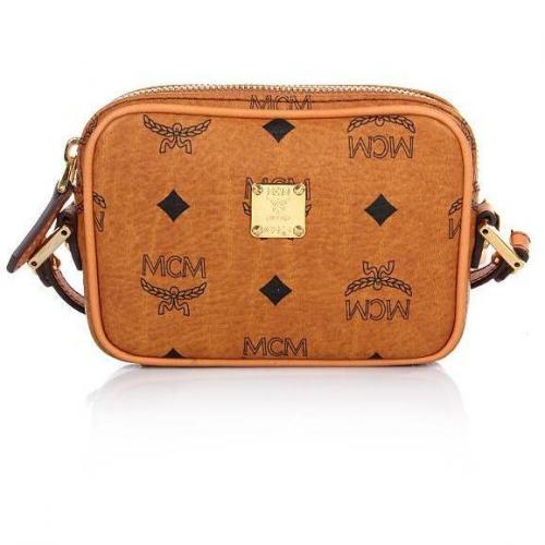 MCM Heritage Original Crossbody Mini Cognac