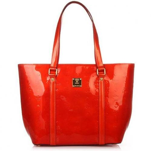 mcm ivana patent shopper large orange designer handtaschen paradies it bags burberry gucci. Black Bedroom Furniture Sets. Home Design Ideas