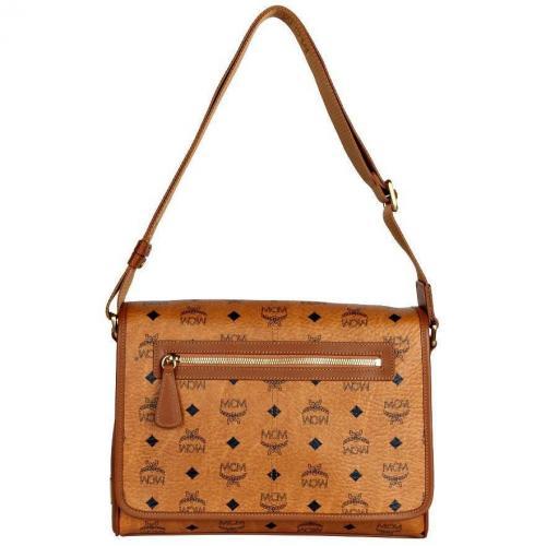 MCM Messenger-Bag Heritage Braun
