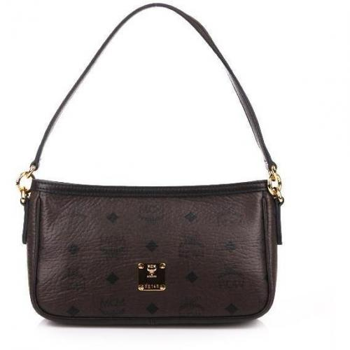 MCM Vintage Visetos Cross Mini Dark Brown