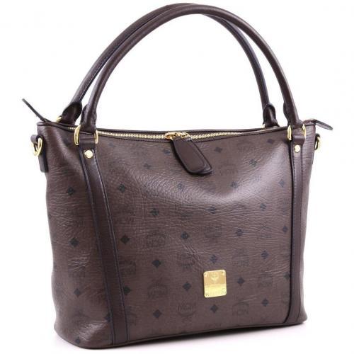 mcm visetos m shopper dunkelbraun designer handtaschen paradies it bags burberry gucci. Black Bedroom Furniture Sets. Home Design Ideas
