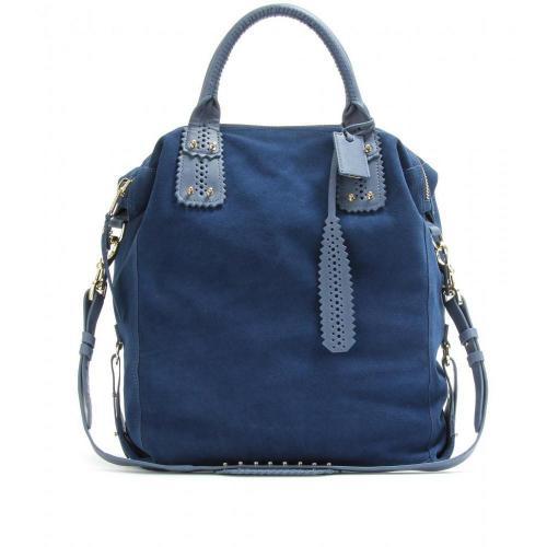 mcq alexander mcqueen perforierter veloursleder shopper designer handtaschen paradies it bags. Black Bedroom Furniture Sets. Home Design Ideas