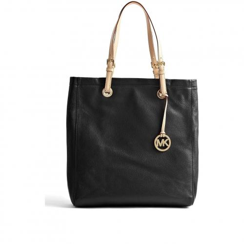 Michael Kors Black Jet Set Leather Tote
