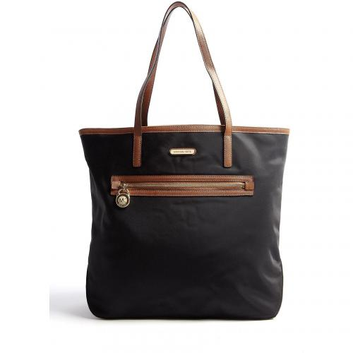 Michael Kors Black Large Kempton North South Nylon Tote