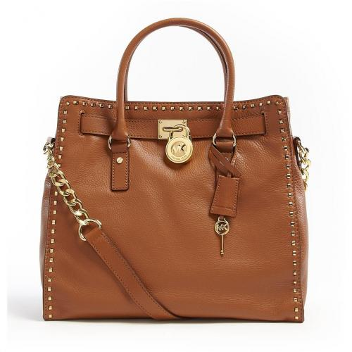 Michael Kors Large Tan Hamilton Whipped North South Tote