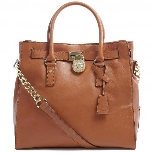Michael Kors Tan Large Hamilton North South Tote